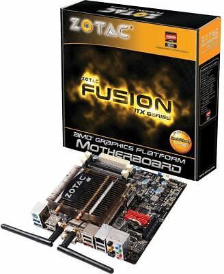 Zotac Fusion E-350 AMD M1 SATA3 and USB 3.0 Wi-Fi A&V&GbE Mini ITX Motherboard