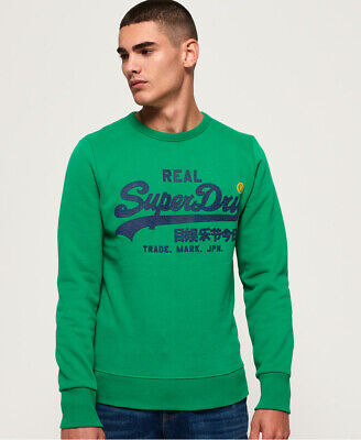 Superdry Mens Vintage Logo Panel Stripe Sweatshirt