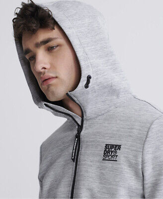 Superdry Mens Gym Tech Zip Hoodie