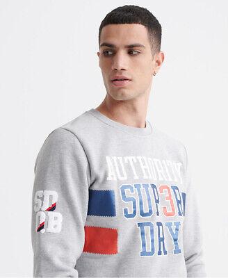 Superdry Mens Sdqb Authority Crew Sweatshirt