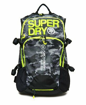 SUPERDRY MEN'S ULTIMATE SNOW RESCUE 20L REFLECTIVE BACKPACK CAMO YELLOW MS1002MR