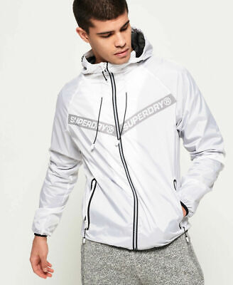 New Mens Superdry Mens Core Cagoule Optic White