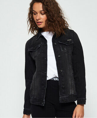 Superdry Womens Denim Baseball Jacket