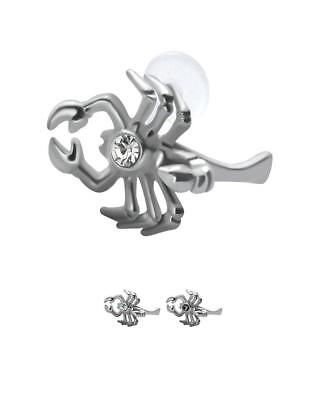 316L Surgical Steel Ear Cartilage Earring Stud Ring Scorpion Bioflex Post - Surgical Steel Ear Posts