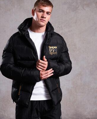 Superdry Mens Gym Tech Gold Puffer Jacket