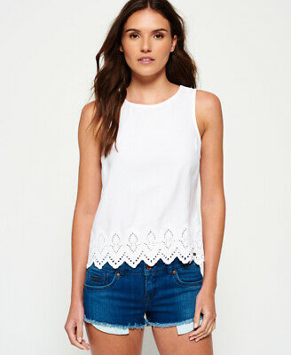 Superdry Womens Broderie Anglais Top