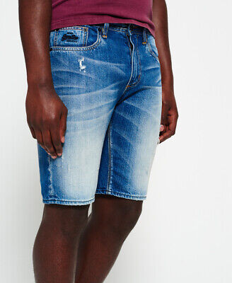 Superdry Mens Officer Slim Denim Shorts