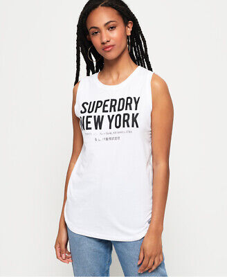 Superdry Womens Kellow Graphic Oversized Vest Top