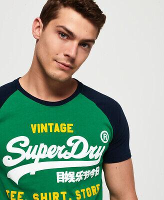 Superdry Herren Shirt Shop Duo T-Shirt Mit Raglanärmeln