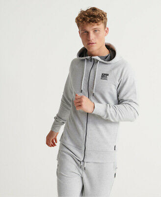 Superdry Mens Training Flex Zip Hoodie