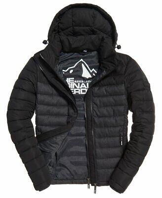 Superdry Mens Fuji Colour Block Jacket W/T Removable Hood, S - Slim Fit