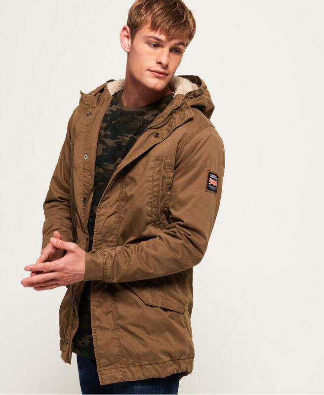 Superdry Mens Military Parka Jacket