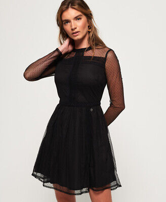 Superdry Womens Antonia Mesh Dress