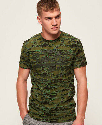 Superdry Mens Shirt Shop Camo T-Shirt