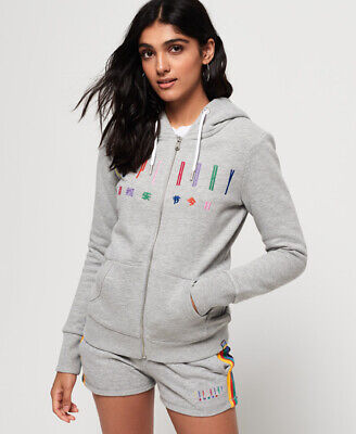 Superdry Womens Carly Carnival Embroidered Zip Hoodie