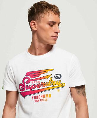 New Mens Superdry Mens High Flyers Hyper Classics T-Shirt Optic