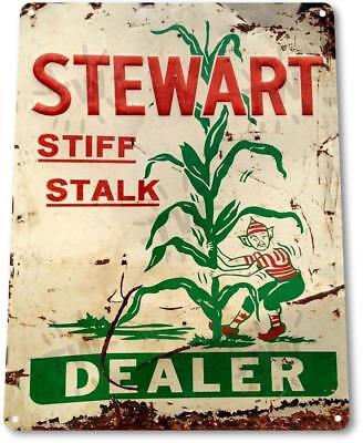 Stewart Dealer Stiff Stalk Corn Metal Decor Farm Shop Feed Store Sign  - Decorating Stores
