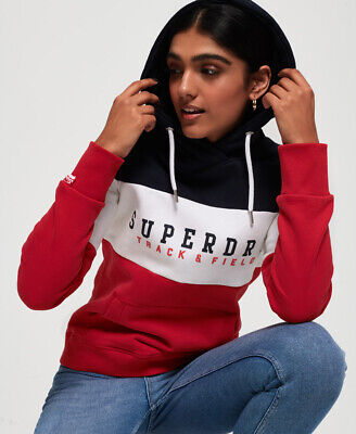 Superdry Womens Track & Field Colour Block Hoodie
