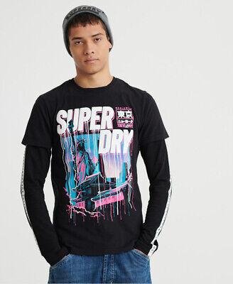 Superdry Mens Worldwide Acid T-Shirt