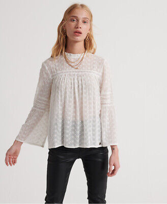 Superdry Womens Taylor Broderie Top