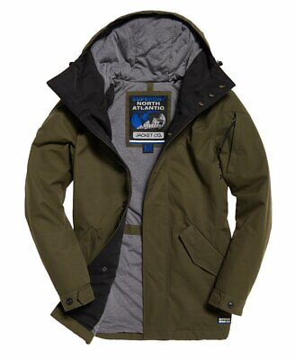 Superdry x North Atlantic Harbour Dock Parka Green Large EUC!