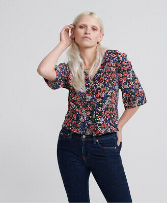 Superdry Womens Pippa Button Blouse