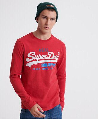 Superdry Mens Vintage Logo Desert Long Sleeved T-Shirt