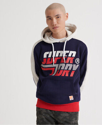 Superdry Mens Downhill Racer Panel Hoodie