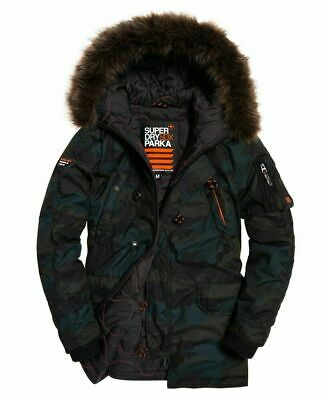 Superdry Men's Winter Jacket Sdx Parka Camouflage Pattern M50008LR F28 size XL