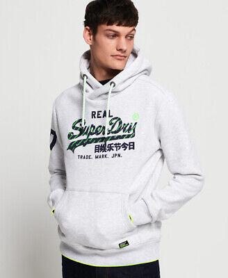 Superdry Mens Vintage Logo Neon Tip Hoodie