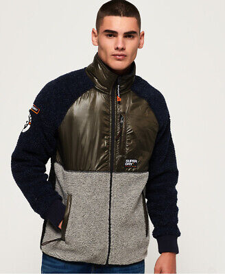 Superdry Mens Mountain Sherpa Block Track Top