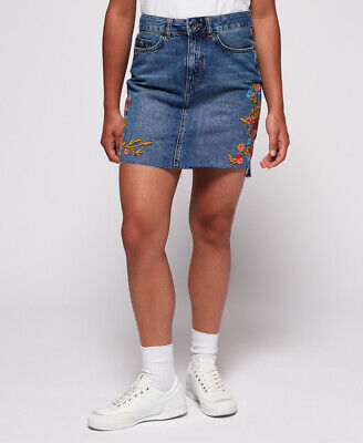 Superdry Womens Denim Mini Skirt