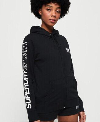 Superdry Womens Core Sport Zip Hoodie