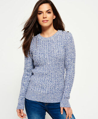 Superdry Womens Croyde Twist Cable Crew Neck Jumper
