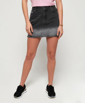 Superdry Womens Denim Micro Mini Skirt