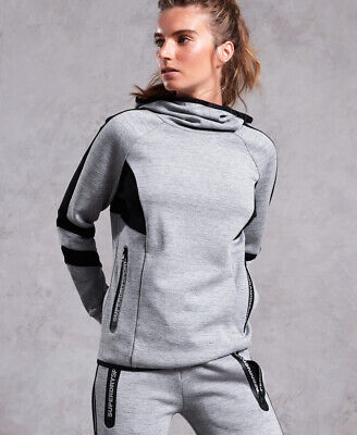 Superdry Womens Core Gym Tech Funnel Hoodie