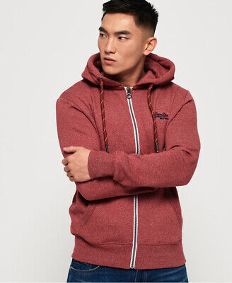 Superdry Mens Orange Label Zip Hoodie