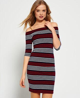 Superdry Womens Breton Bardot Stripe Dress