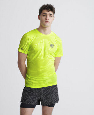 Superdry Mens Training Breathable Camo T-Shirt