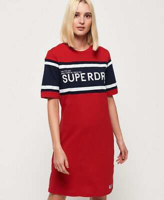 Superdry Womens Colour Block T-Shirt Dress