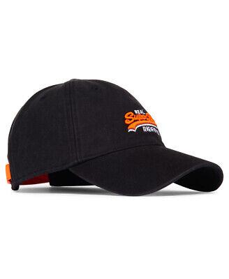 Superdry Black Wash Twill Cap - M90000MR - 13A