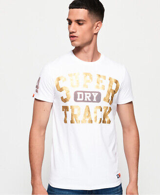 Superdry Mens Track And Field Metallic T-Shirt