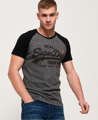 Superdry Mens Vintage Logo 1St Raglan T-Shirt