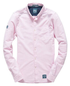 Superdry-Chemise-Ultimate-Oxford-Pour-homme-Rose