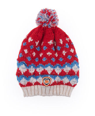 Create a fun look with a bright bobble hat
