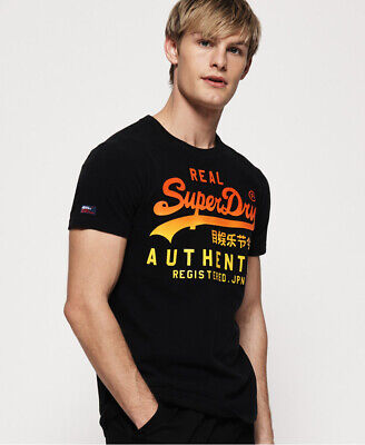 Superdry Mens Vintage Logo Authentic Fade T-Shirt