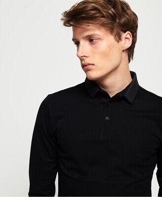 Superdry Mens Edit Long Sleeve Polo Shirt