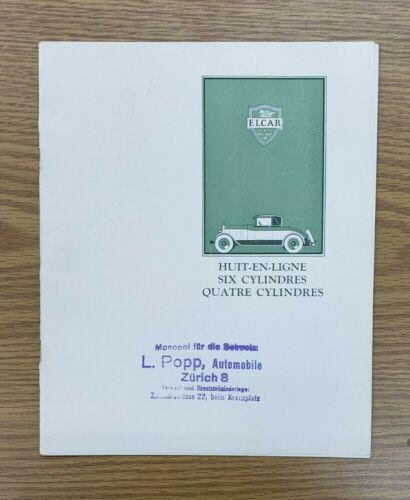 1926 Elcar Sales Folder (French)