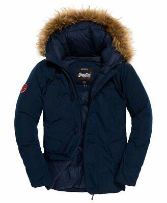 "Superdry Rookie Down Parka Jacket Deep Navy Size: L 40"" (102cm) RRP £179.99"