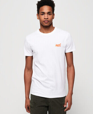 Superdry Mens Orange Label Neon T-Shirt